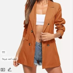 Double Breasted Solid Blazer